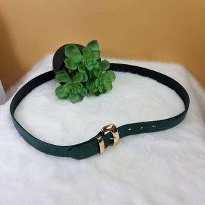 Vintage Accessories - Vintage plus Nan Lewis green leather belt.